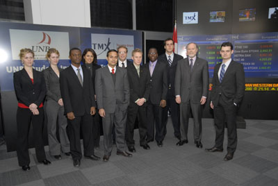 Members of the Student Investment Fund and the finance group at the TSX opening