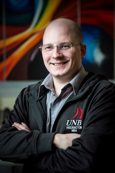 David Shipley, director of strategic initiatives for UNB's Information Technology Services, says that his experiences as a part-time MBA student have helped UNB save hundreds of thousands of dollars and transformed its use of mobile technologies.