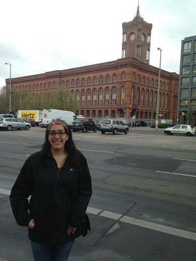 Natasha Youssef experienced UNB's Travel Study Program in Berlin last summer.