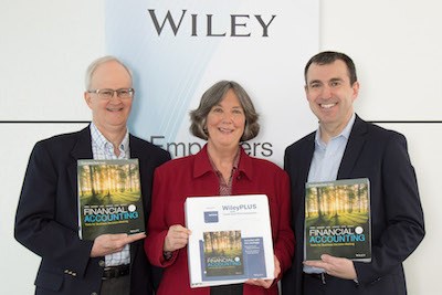 Barbara Trehnholm (centre) with co-authors Wayne Irvine (University of Calgary) on her right and Chris Burnley (Vancouver Island University)on her left.