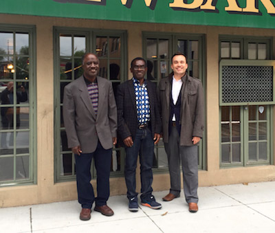 Left to right: Dr. Joseph Abekah (UNB); Dr. George Frempong (South African Research Lead); Dr. Jeff McNally (UNB).