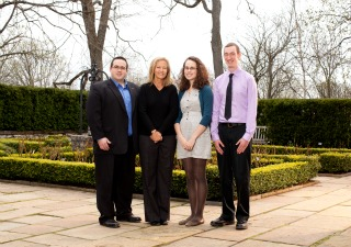(left to right) Adam James Reid, Sandra Irving, Natalia Hicks and Peter Conley