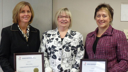 Karen Ludwig, Regena Farnsworth and Suzanne Tucker