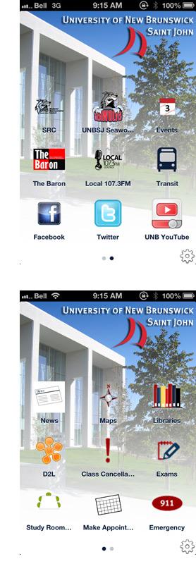UNB Saint John mobile app