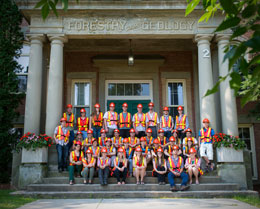 Students from universities across Canada and Europe learn about forestry and environmental management in New Brunswick.