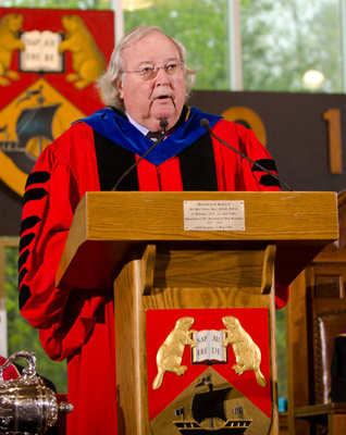 University community pays tribute to Dr. Richard Currie, chancellor of the University of New Brunswick from 2003 – 2013.
