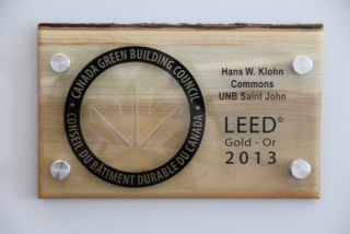 The Hans W. Klohn Commons is the only university building in New Brunswick with Leadership in Energy and Environmental Design (LEED) certification.