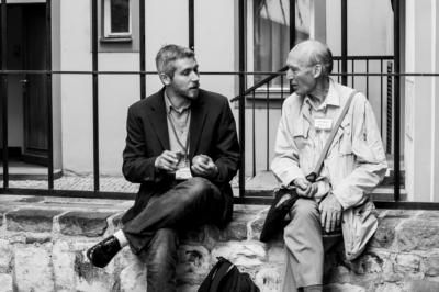 Dr.Tim Koslowski (Left) and Dr. Julian Barbour