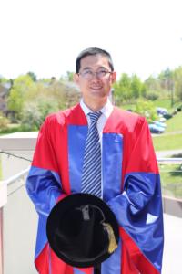 Dizhi Zhou at UNB Fredericton graduation in May 2014.