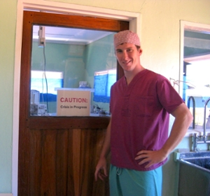 Allan Kember in 2009 at the the Chitokiloki Mission Hospital in Zambia