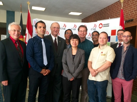 NSERC discovery grant recipients with MP Keith Ashfield