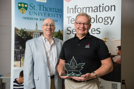 Dan Hurley, Director of IT Services, St. Thomas University and Terry Nikkel, Associate Vice President of Information Technology Services, University of New Brunswick