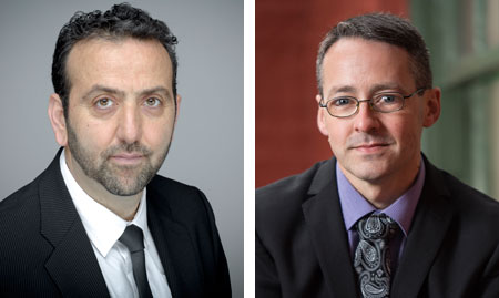 Drs. Emin Civi and Dale Roach received awards for excellence in teaching and educational leadership from the Association of Atlantic Universities (AAU).