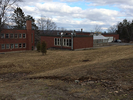 The future home of the UNB campus community garden
