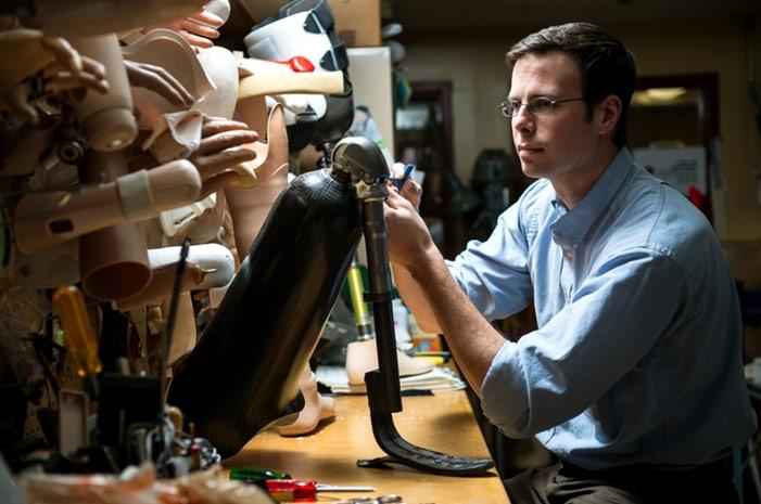 UNB bionics expert Jon Sensinger
