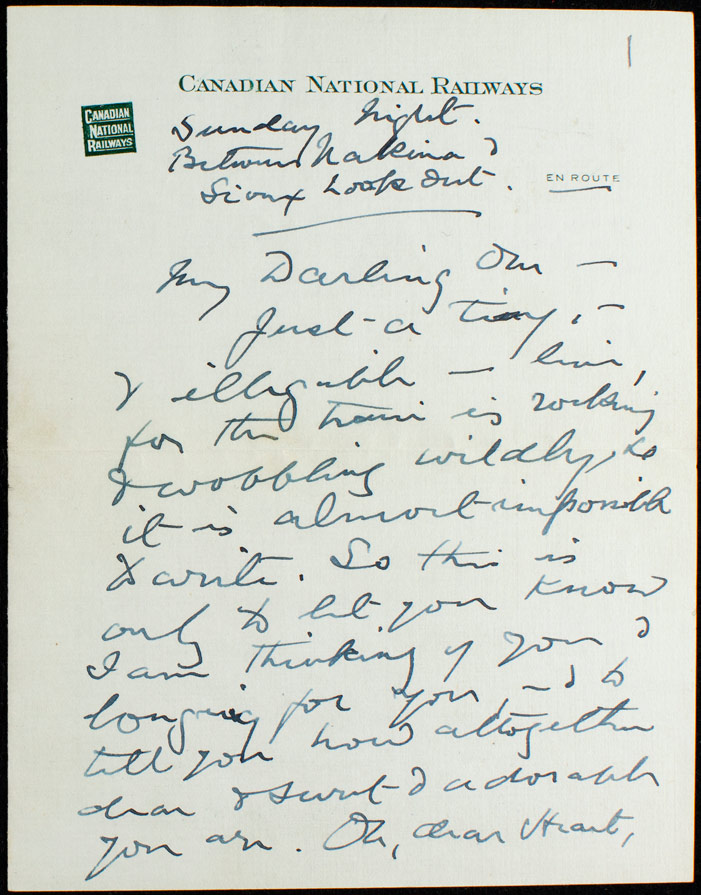 Digital copy of letter from CGD Roberts to E Smith 10 November, 1926. Evelyn Smith Acquisition 2016.032 (Credit UNB Archives & Special Collections)