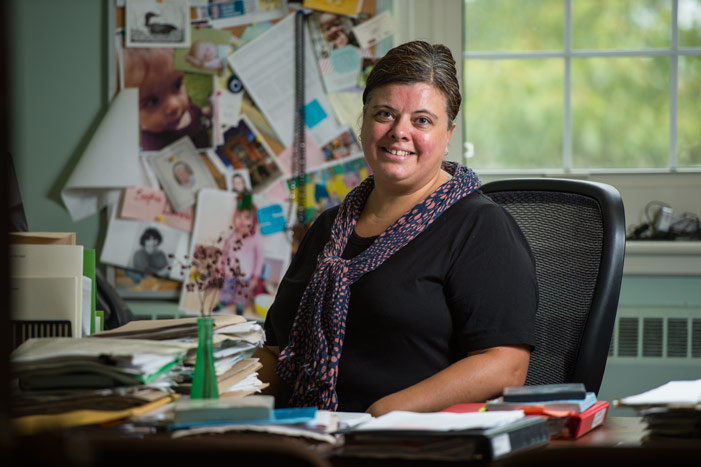 Sophie Lavoie, associate professor and chair of culture & media studies at UNB, will publish Constructing Memory: Latino-Canadian Women Writers in the New Millennium with the support of a Harrison McCain Grant in Aid of Scholarly Book Publishing. (Rob Blanchard / Photo UNB)