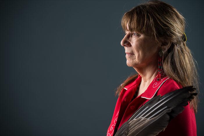 UNB's Elder-in-Residence, Imelda Perley (Rob Blanchard / UNB)